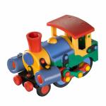 Jucarie de construit mic-o-mic 3D Locomotiva 15 cm