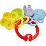 Jucarie dentitie BabyJem Rattle Teether Red