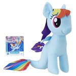 Jucarie plus My Little Pony 25 cm Rainbow Dash cu codita de sirena