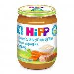 Meniu HiPP vitel cu orez si morcov 190g