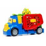Camion transformabil cu 1 masina cu sunete si lumini inclusa Molto