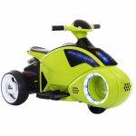 Motocicleta electrica C-toys copii  Space Ship cu acumulator muzica si lumini verde