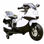 Motocicleta electrica copii C-Toys cu roti detasabile si lumini alb
