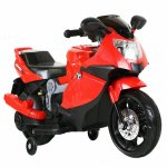 Motocicleta electrica copii C-Toys cu roti detasabile si lumini rosu