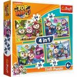 Puzzle Trefl 4 in 1 Echipa Top Wing in actiune