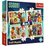 Puzzle Trefl 4 in 1 Scooby Doo si prietenii