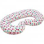 Perna pentru gravide si alaptat tip C 250 cm Infantilo inimioare colorate