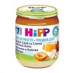Piure HiPP Fruit-Duet piersica, caisa si crema de branza 160g