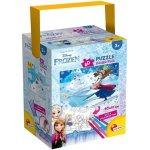 Puzzle in cutie cu 4 carioci Frozen (60 piese)