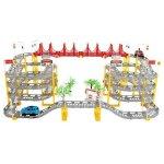 Set circuit supraetajat gigant 8m cu 2 masinute incluse 236 piese Iso Trade MY17319