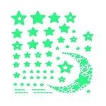 Set stickere fosforescente in forma de Stele si Semiluna 52 bucati Iso Trade MY17368