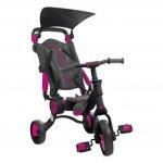 Tricicleta pliabila copii multifunctionala 4 in 1 Negru/Roz Toimsa Galileo 10-36 luni
