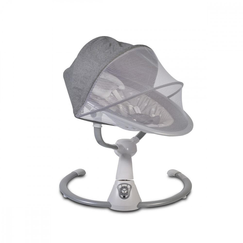 Leagan electric pentru bebelusi Swing Cloud Grey Stars imagine