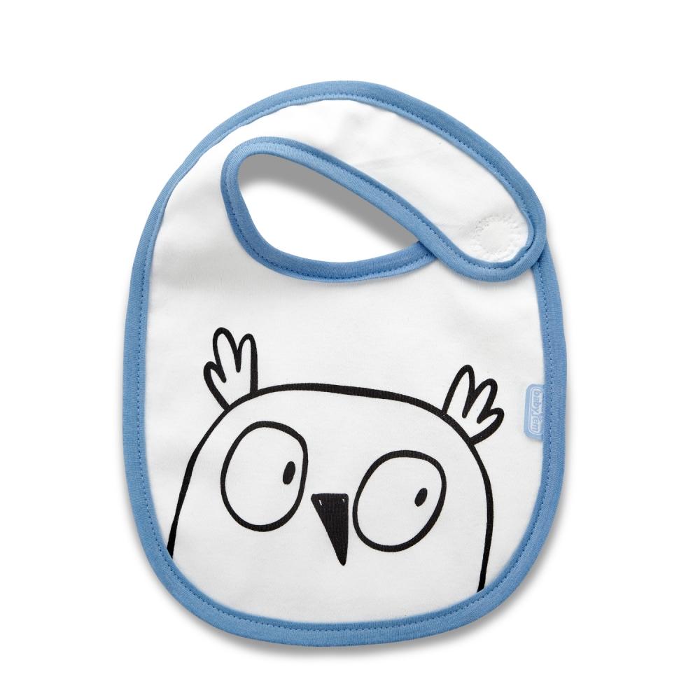 Baveta din bumbac BabyJem Blue Owl imagine