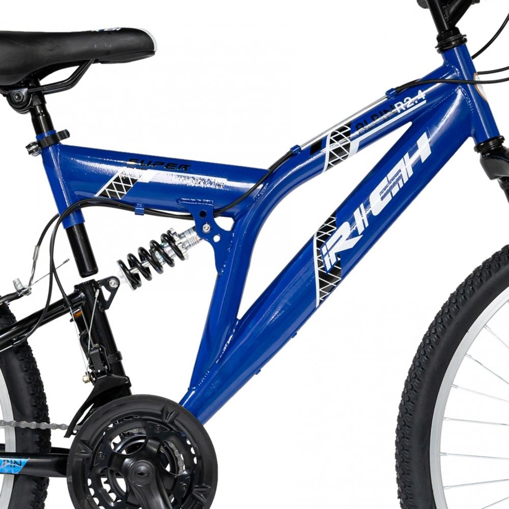 Bicicleta MTB-FS 24 Rich Alpin R2449A cadru otel albastru negru
