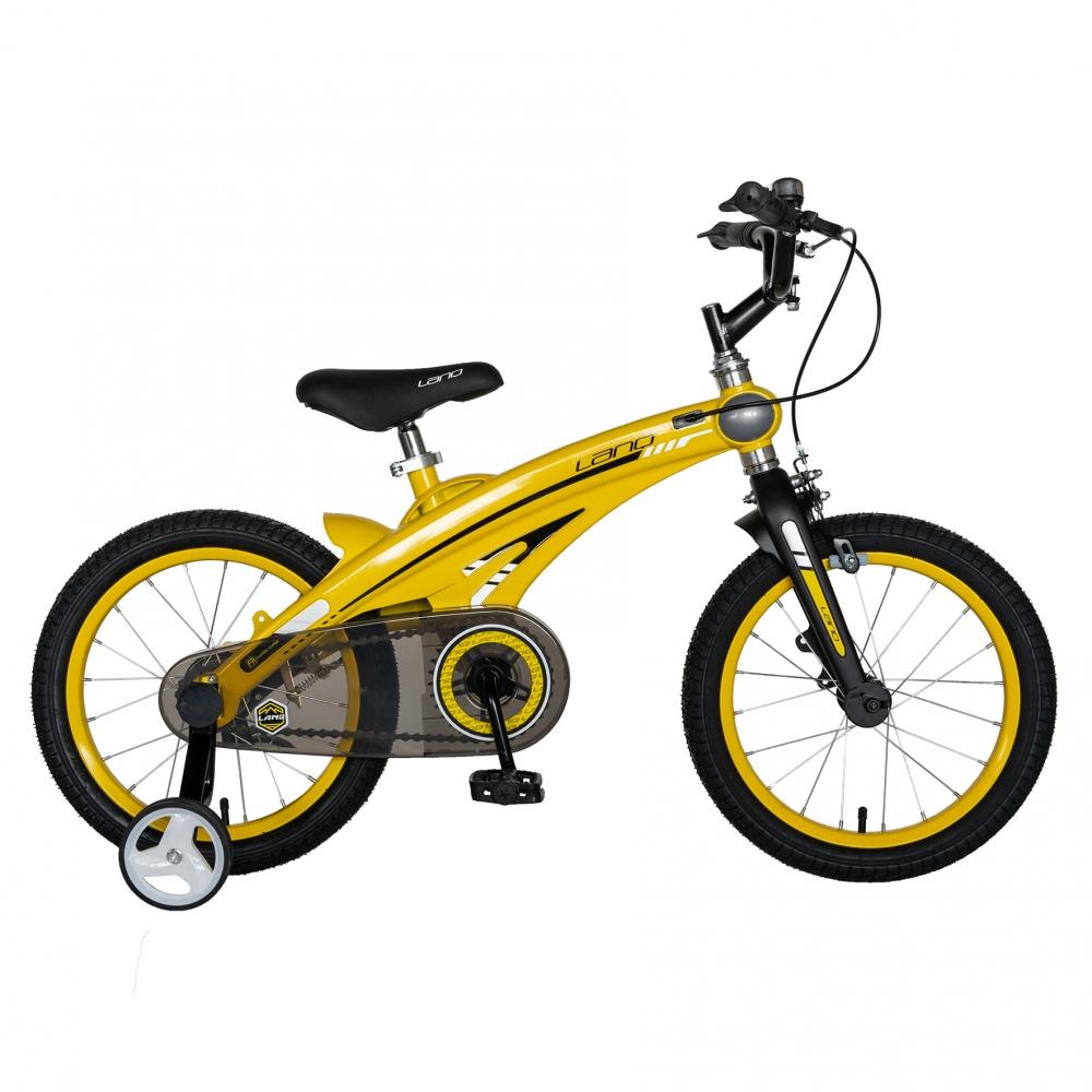 Bicicleta W1639D 16 frana C-Brake cu roti ajutatoare 4-6 ani galbennegru
