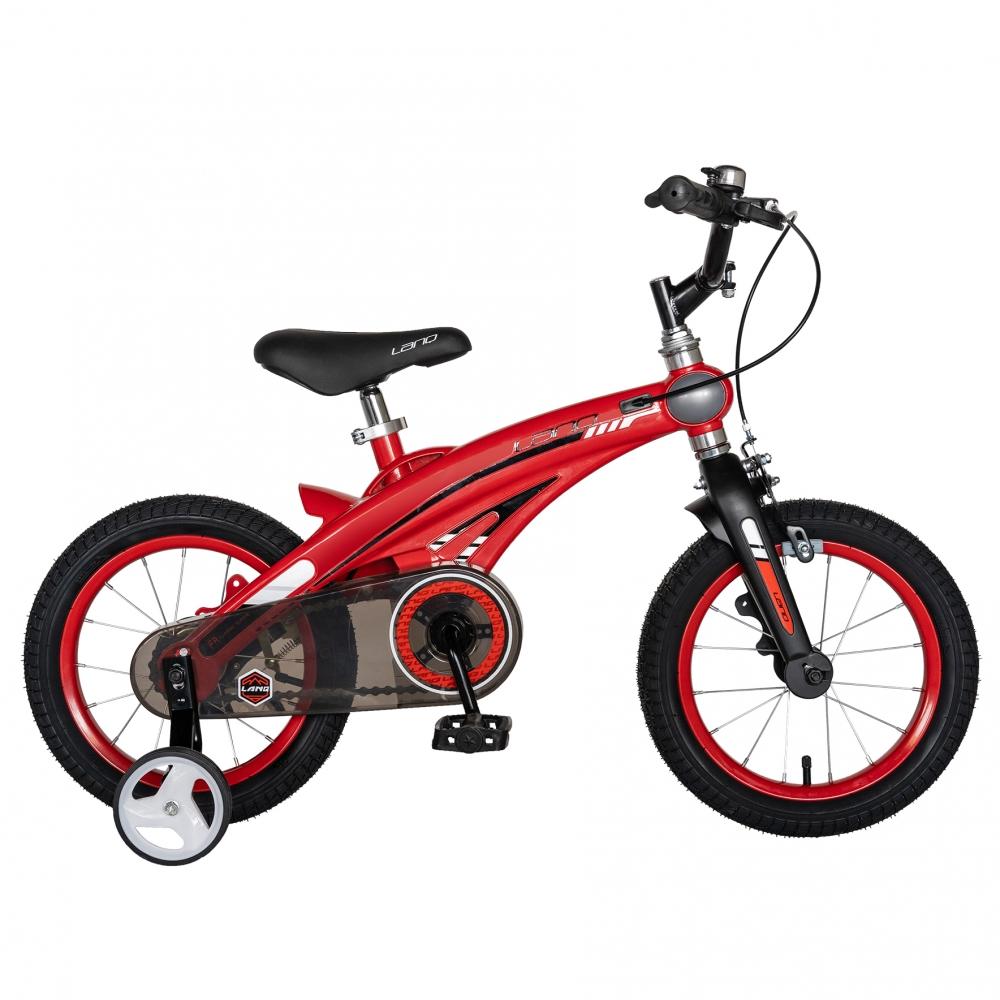 Bicicleta W1439D 14 frana C-Brake cu roti ajutatoare 3-5 ani rosunegru