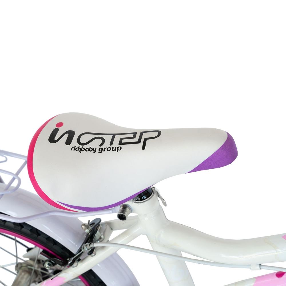 Bicicleta copii 16 inch Rich Baby R1602A albroz cu roti ajutatoare 4-6 ani