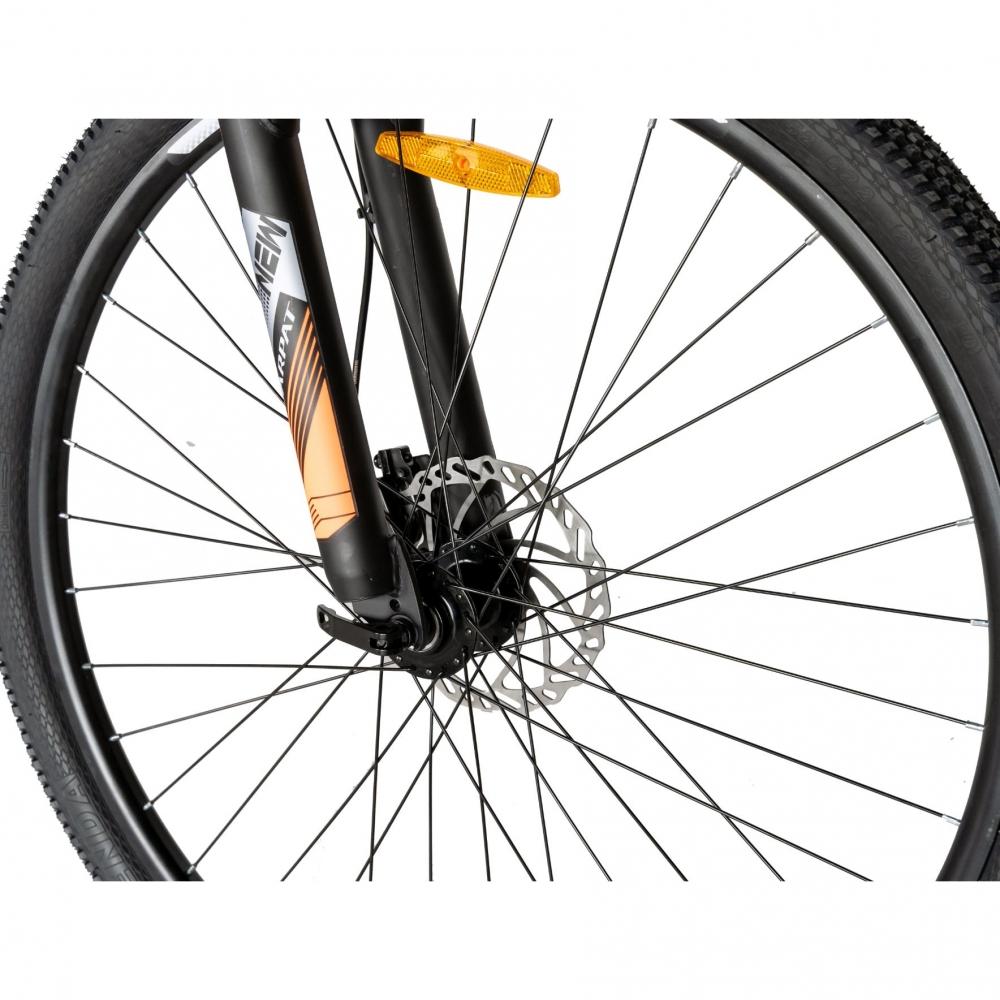 Bicicleta hidraulica Mtb-Ht Carpat C2959H 29 inch cadru aluminiu disc Shimano negruportocaliu imagine