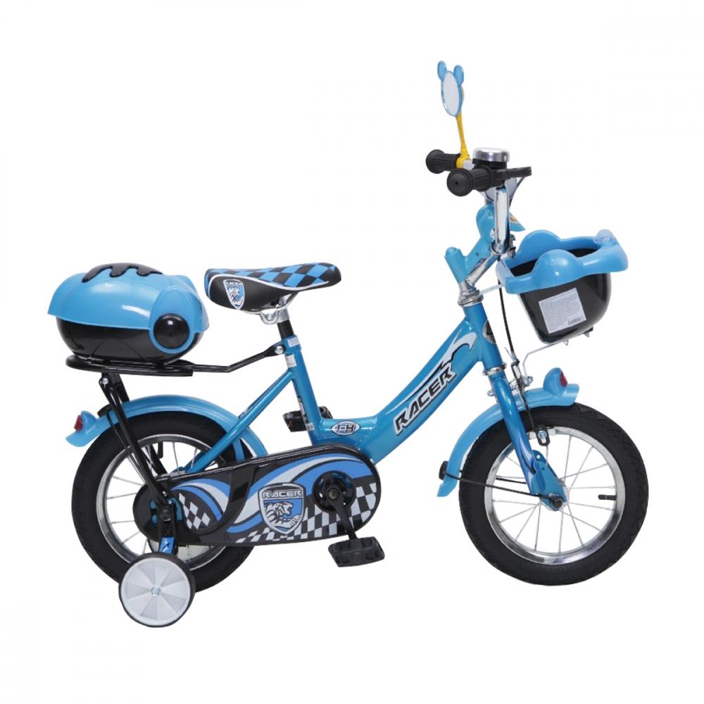 Bicicleta pentru copii cu roti ajutatoare 12inch Racer Blue