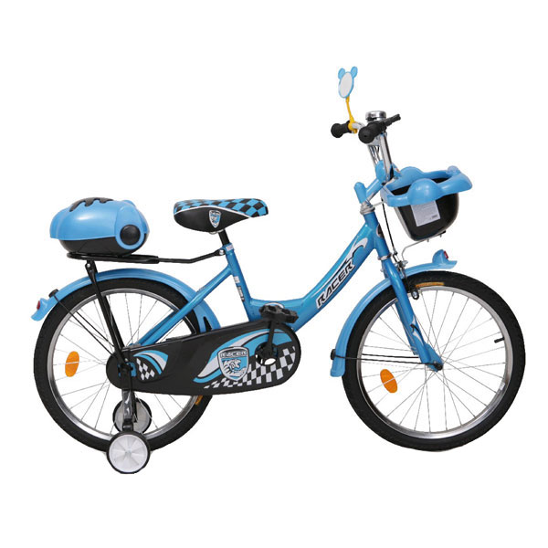 Bicicleta pentru copii cu roti ajutatoare Racer Blue 20 inch