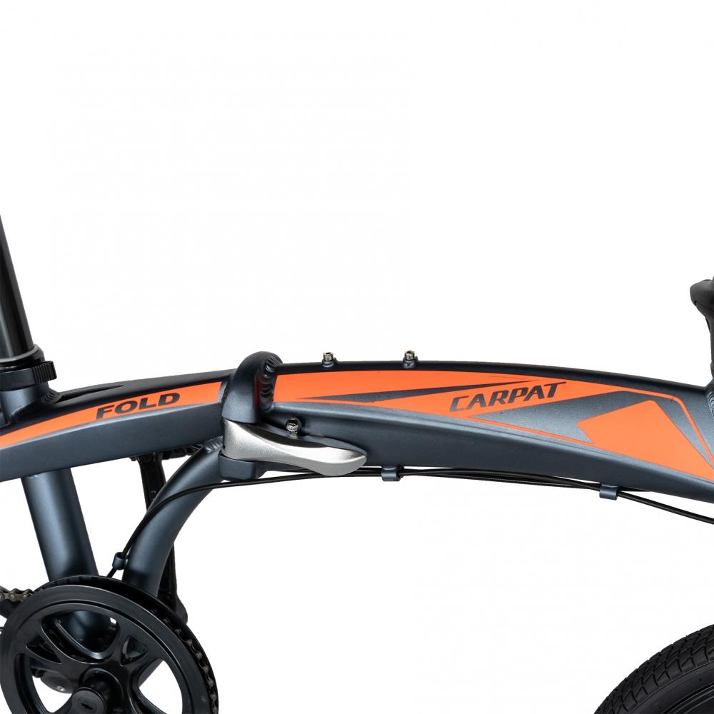 Bicicleta pliabila 20 inch Carpat C2052C echipare SHIMANO 7 viteze griportocaliu