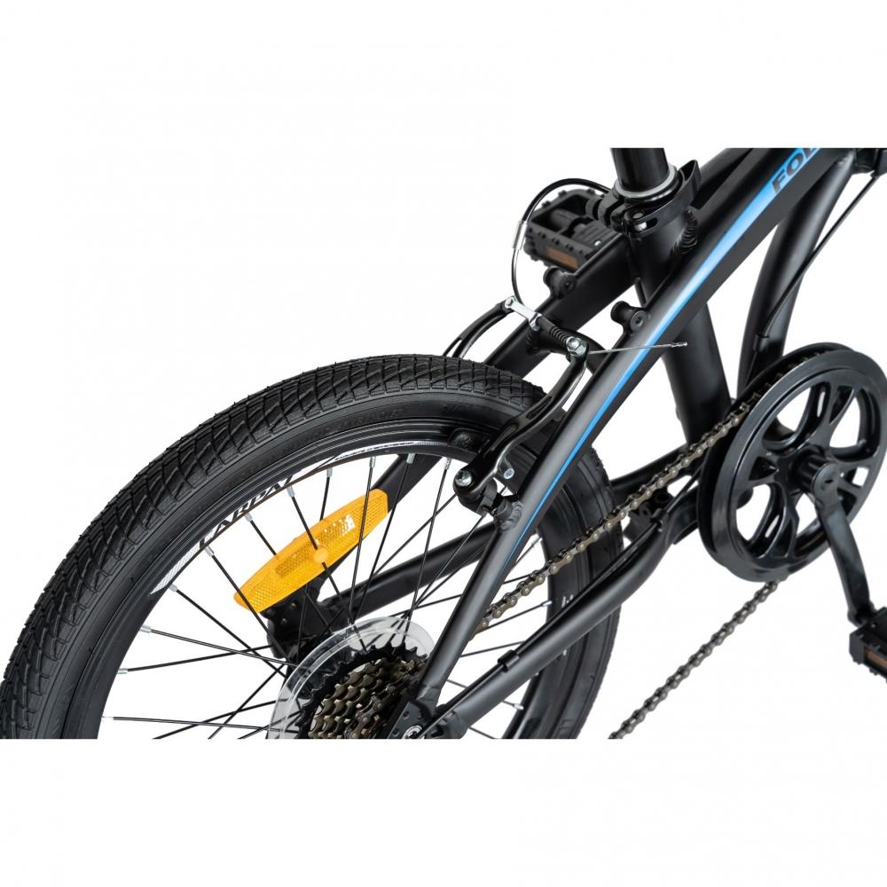 Bicicleta pliabila 20 inch Carpat C2052C echipare SHIMANO 7 viteze negrualbastru