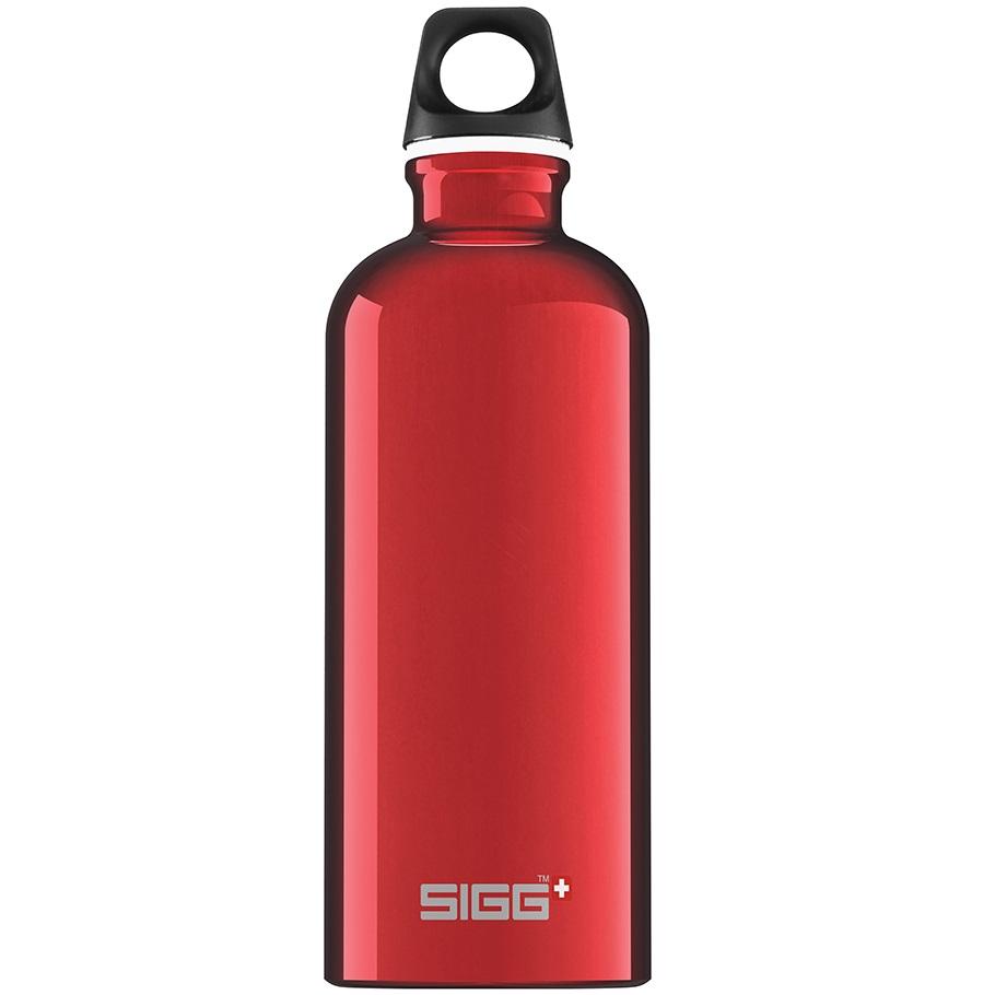 Bidon din aluminiu Traveller Red 0.6L imagine