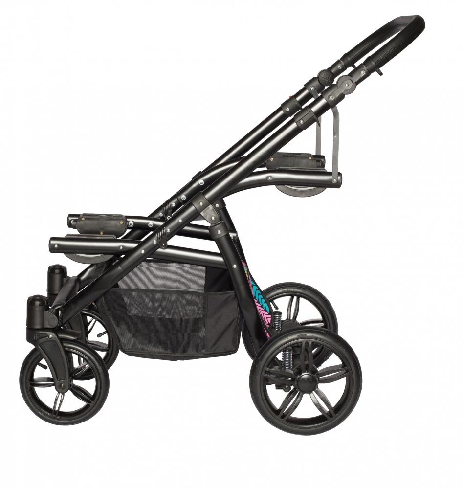 Carucior copii gemeni tandem 2 in 1 Pj Stroller Lux brown