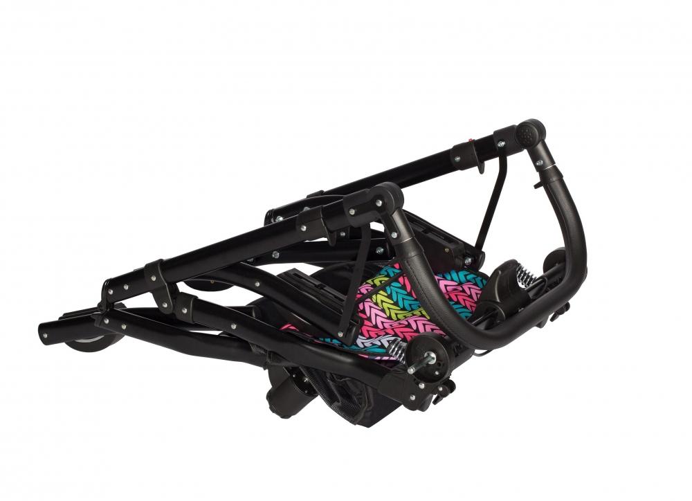 Carucior copii gemeni tandem 3 in 1 Pj Stroller Lux Brown - 2