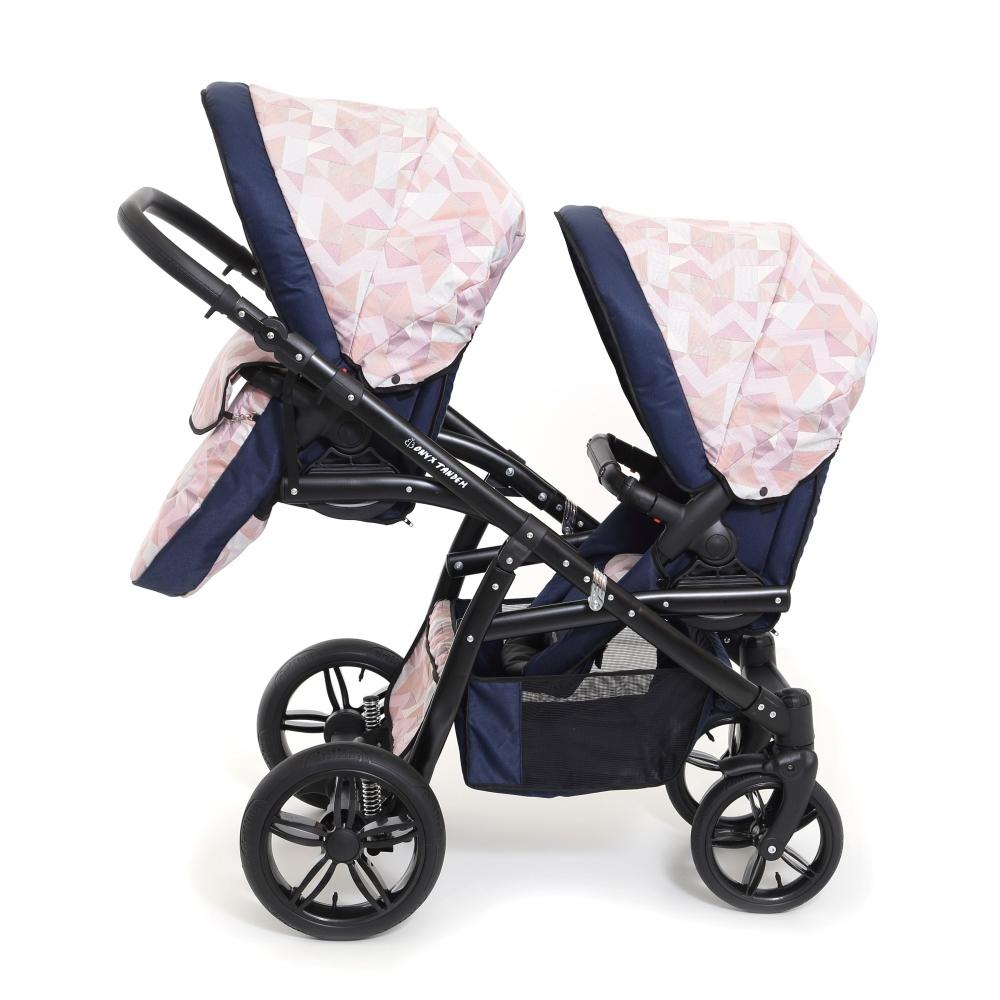 Carucior copii gemeni tandem 3 in 1 Pj Stroller Lux Cube imagine