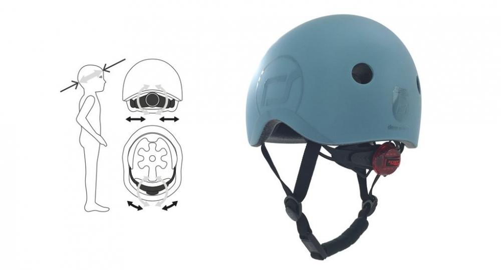 Casca de protectie pentru copii cu sistem de reglare Scoot Ride Steel S-M 3 ani+