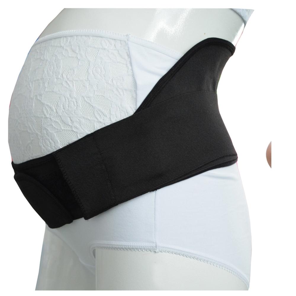 Centura abdominala pentru sustinere prenatala BabyJem Pregnancy Black XL