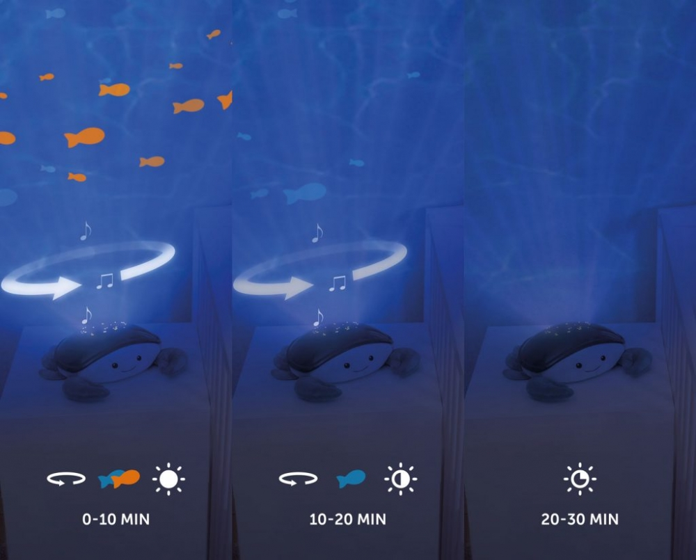 Proiector muzical cu valuri miscatoare Crabul Cody imagine