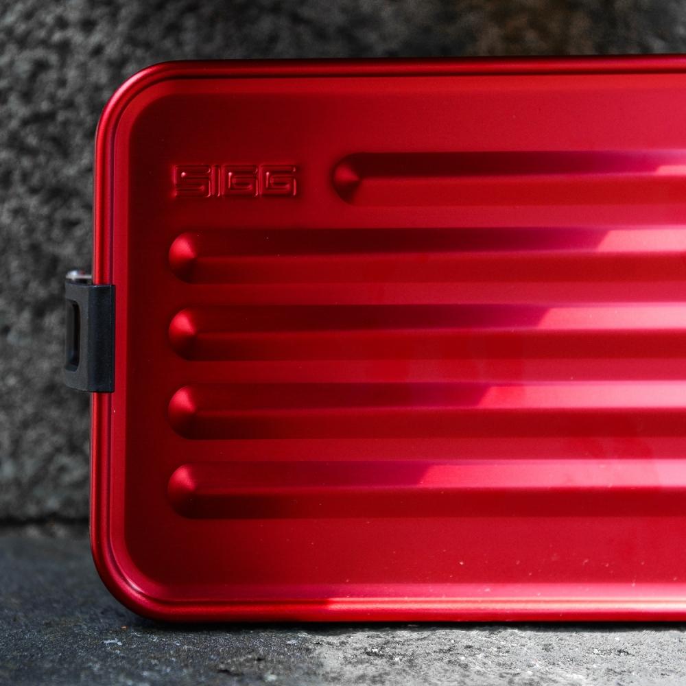 Cutie din aluminiu pentru alimente Plus Red L