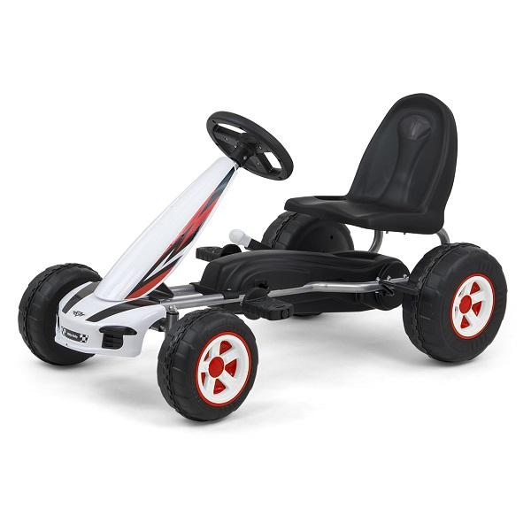 Kart cu pedale pentru copii Viper White