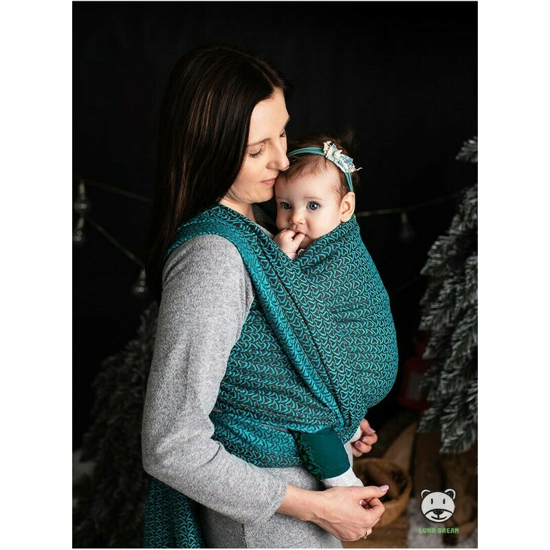 Sling 3.6 m 100 bumbac Little Hearts Turquoise Luna Dream