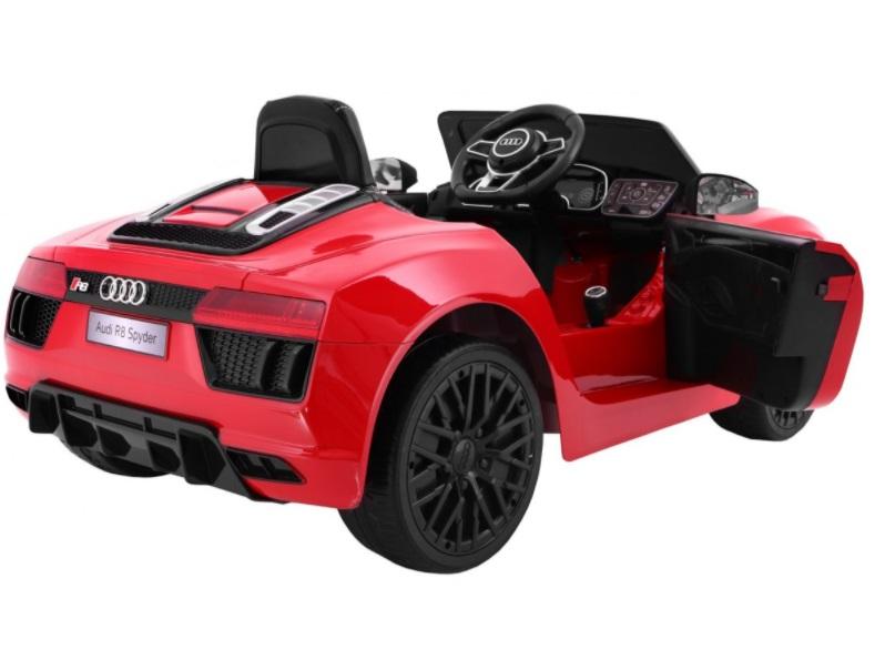 Masinuta electrica cu scaun de piele Audi R8 Spyder Red