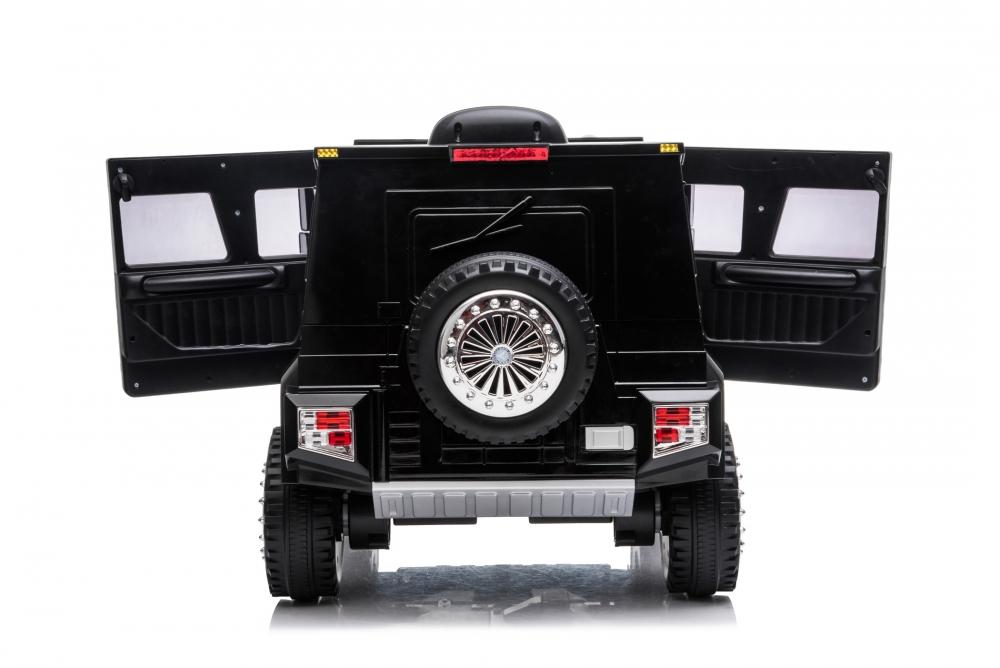 Masinuta electrica cu scaun de piele si roti din cauciuc EVA Mercedes-Benz Black - 1