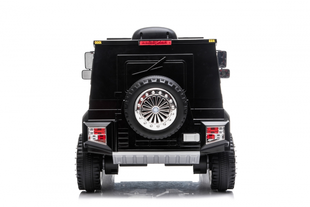 Masinuta electrica cu scaun de piele si roti din cauciuc EVA Mercedes-Benz Black - 2