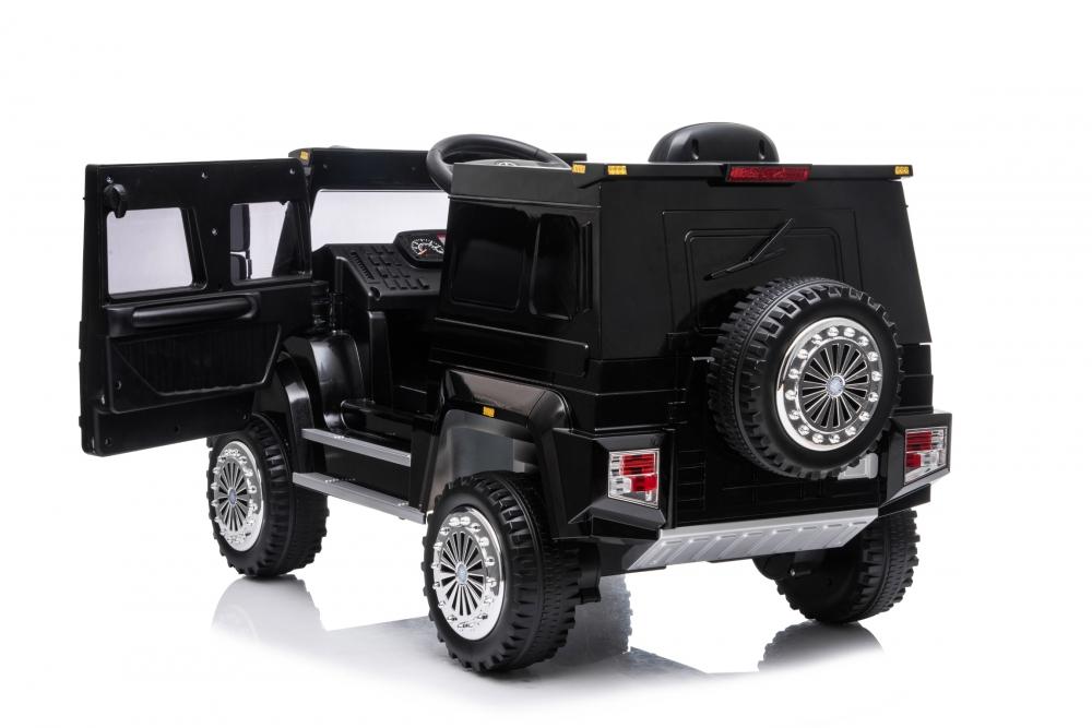Masinuta electrica cu scaun de piele si roti din cauciuc EVA Mercedes-Benz Black - 7