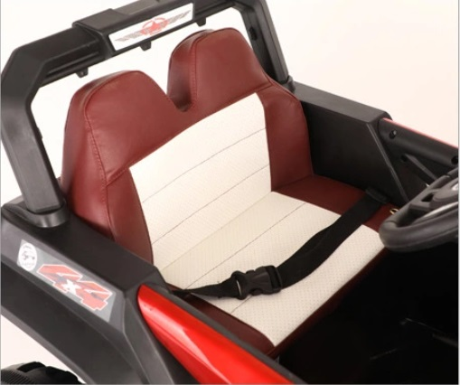 Masinuta electrica cu scaun de piele si suspensii Nichiduta Jeep Jumbo Paint Red