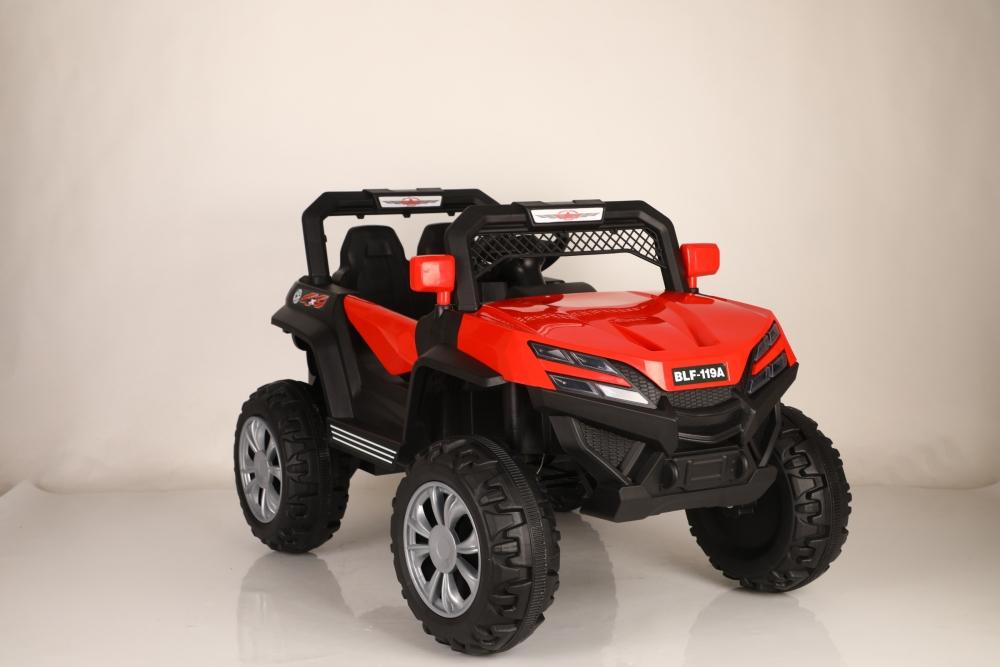 Masinuta electrica cu scaun de piele si suspensii Nichiduta Jeep 4x4 Red imagine