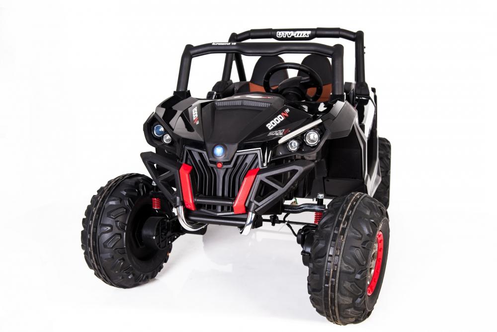 Masinuta electrica cu telecomanda Xtreme Jumper 4x4 UTV-MX Black - 1