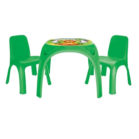 Masuta cu doua scaunele Pilsan King Study Table Green