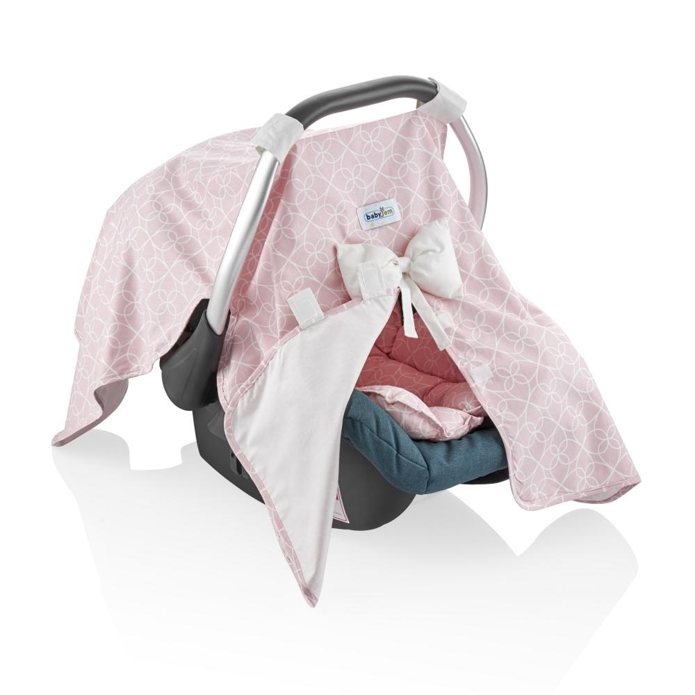 Parasolar Pentru Scoica Auto Babyjem Infant Cover Pink