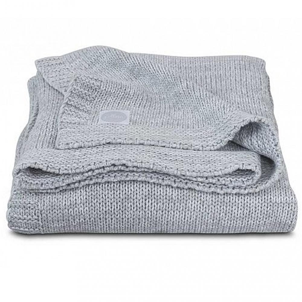 Paturica bebe Melange Knit 75x100 cm tricot gri melanj imagine