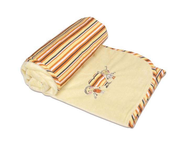 Paturica pentru bebelusi 75x100 cm Blanket Love 02