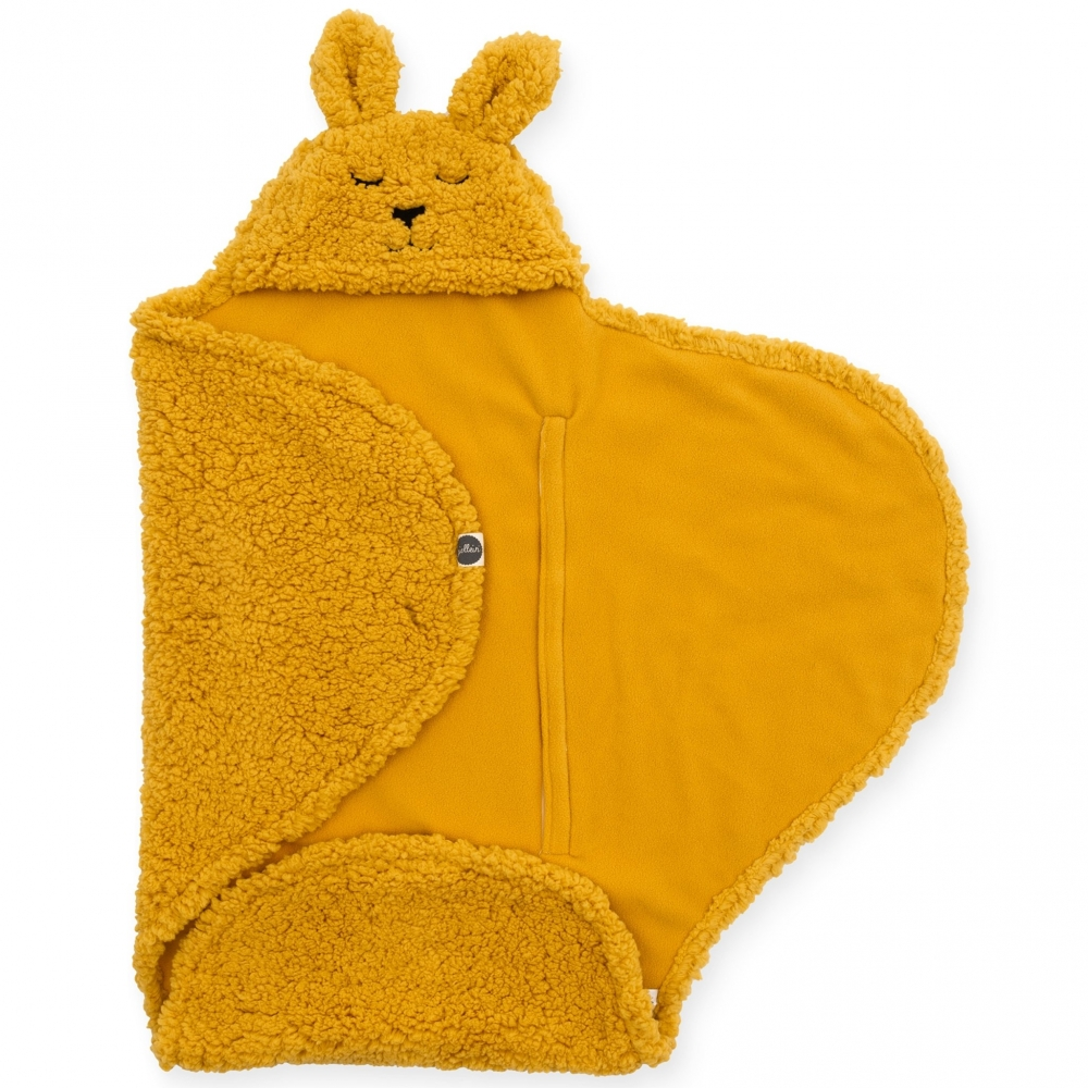 Jollein Sac de dormit pentru calatorie iepuras galben