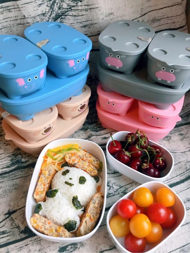 Set caserole hrana cu capac Bentomals To Go purcelus